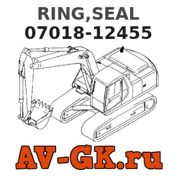 Komatsu 07018-12455 OEM NEW Seal Ring WD600-6 D75A-1... D65A-6