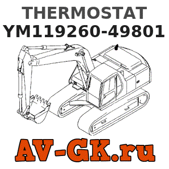 YM129350-49800 Thermostat for Komatsu 3D75 3D74E 3D72 3D72N 3D84 3D84N SK04J-2