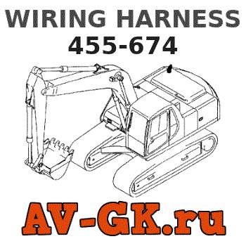 455-674 KOMATSU WIRING HARNESS Part catalog on
